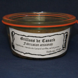 Présentation d'une conserve de grillons de canard