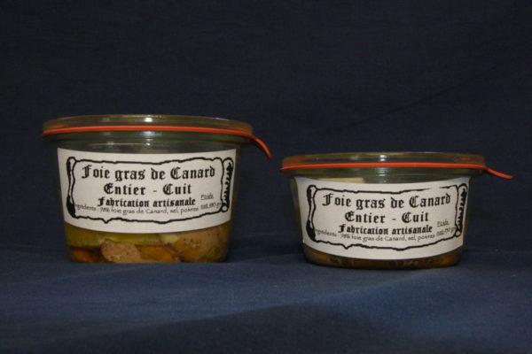 Présentation des conserves de foie gras de canard entier