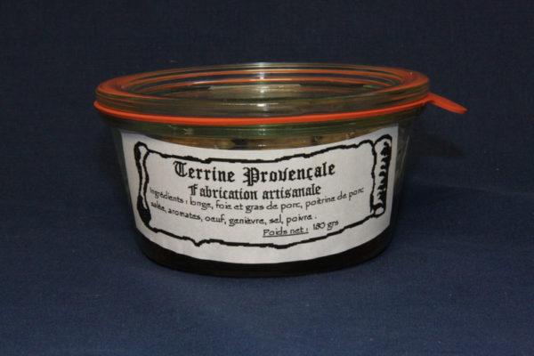 Présentation d'une conserve de terrine provençale