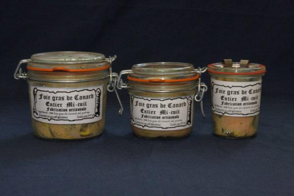 Présentation des conserves de foie gras de canard mi-cuit